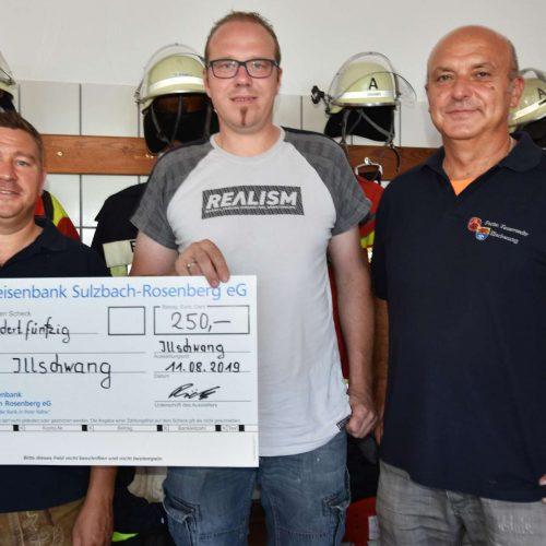 Spendenübergabe Hallenfest FF Illschwang 2019